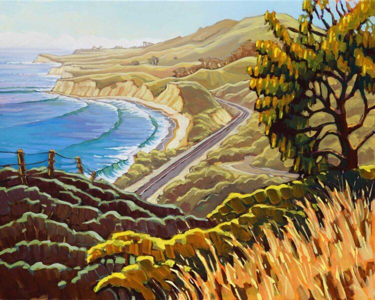 Plein air artwork from hollister ranch on the santa barabara coast of southern california