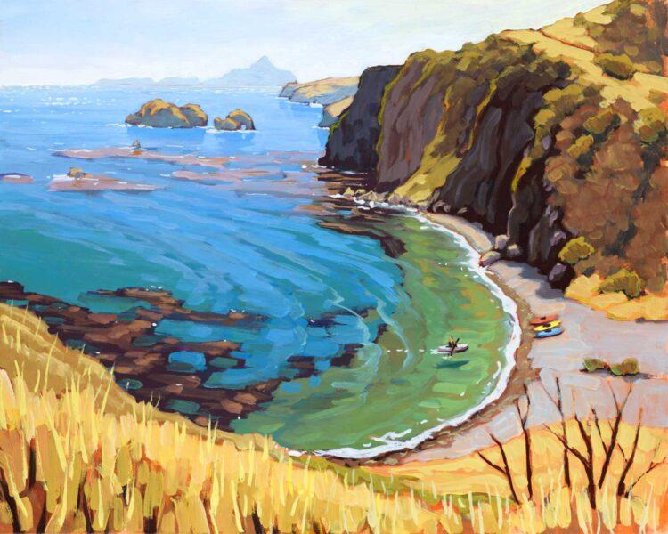 Plein air artwork from Scorpion Ranch on Santa Cruz Island in the Channel Islands National Park off the coast of California