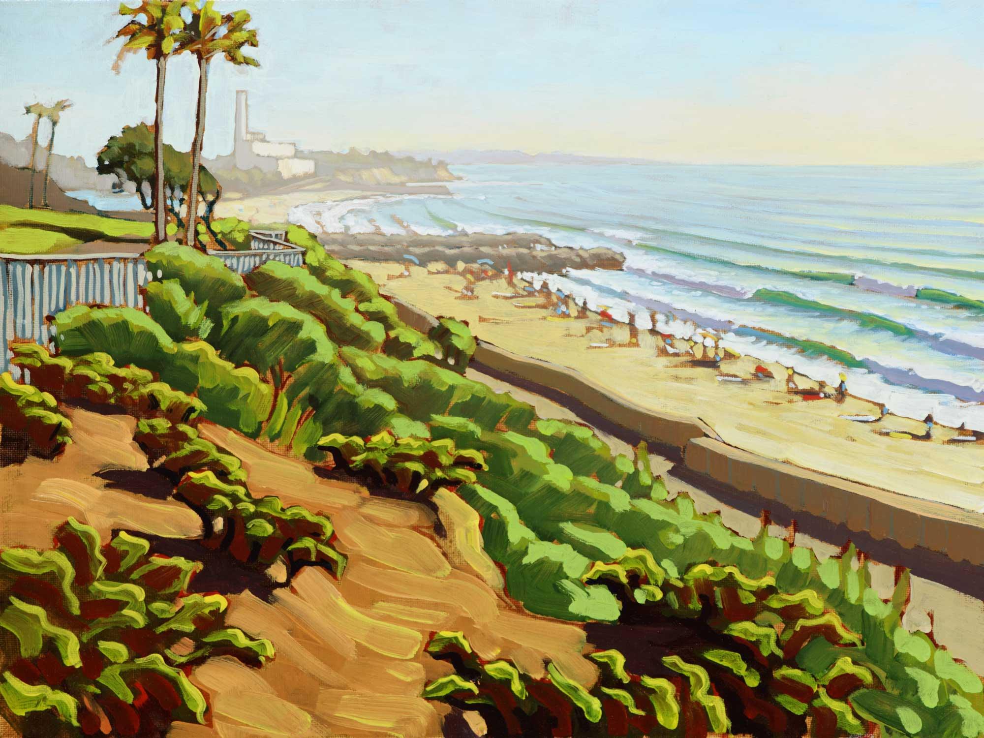 Plein air artwork from Tamarack near Calsbad on the San Diego coast of southern California