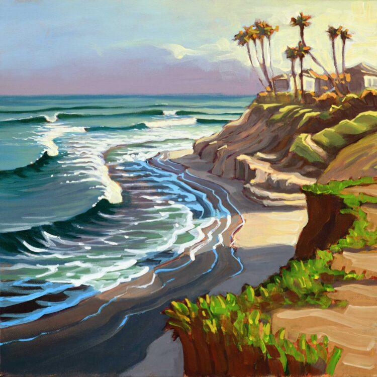 Plein air artwork from the California coast near Carlsbad in San Diego County