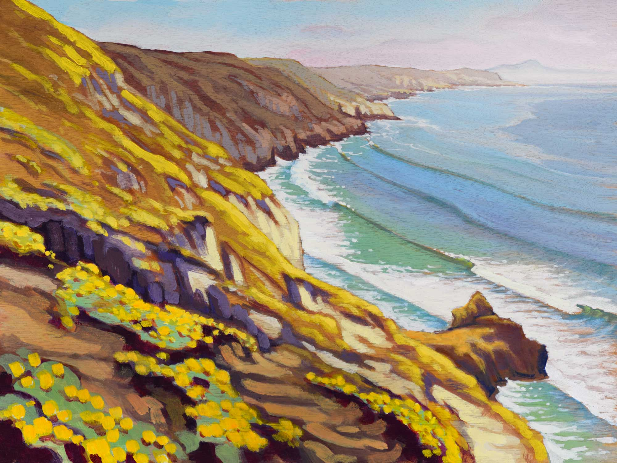Plein air artwork from the Channel Islands National Park on Santa Rosa Island off the coast of southern California