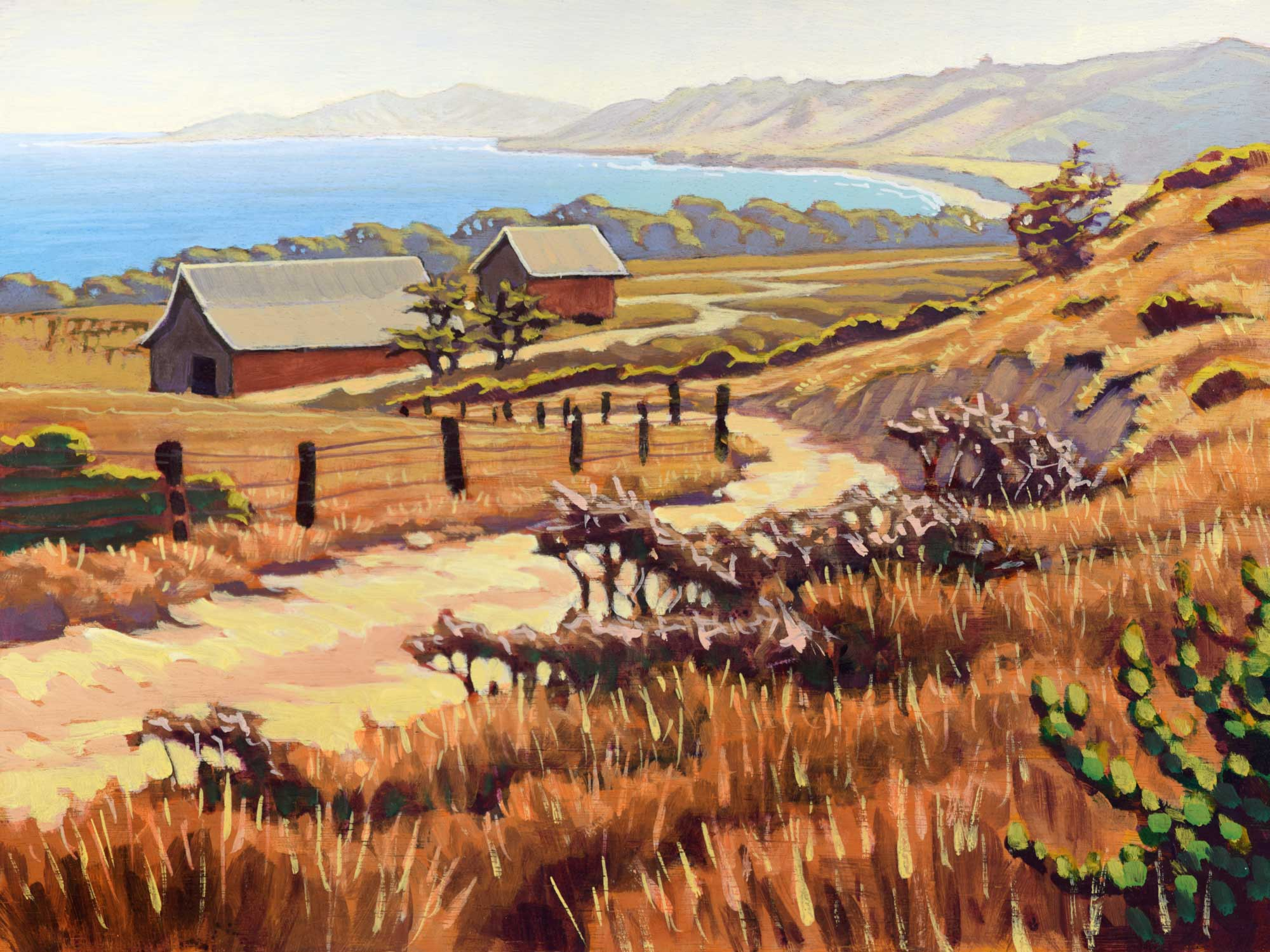 Plein air artwork from Santa Rosa Island in the Channel Islands National Park